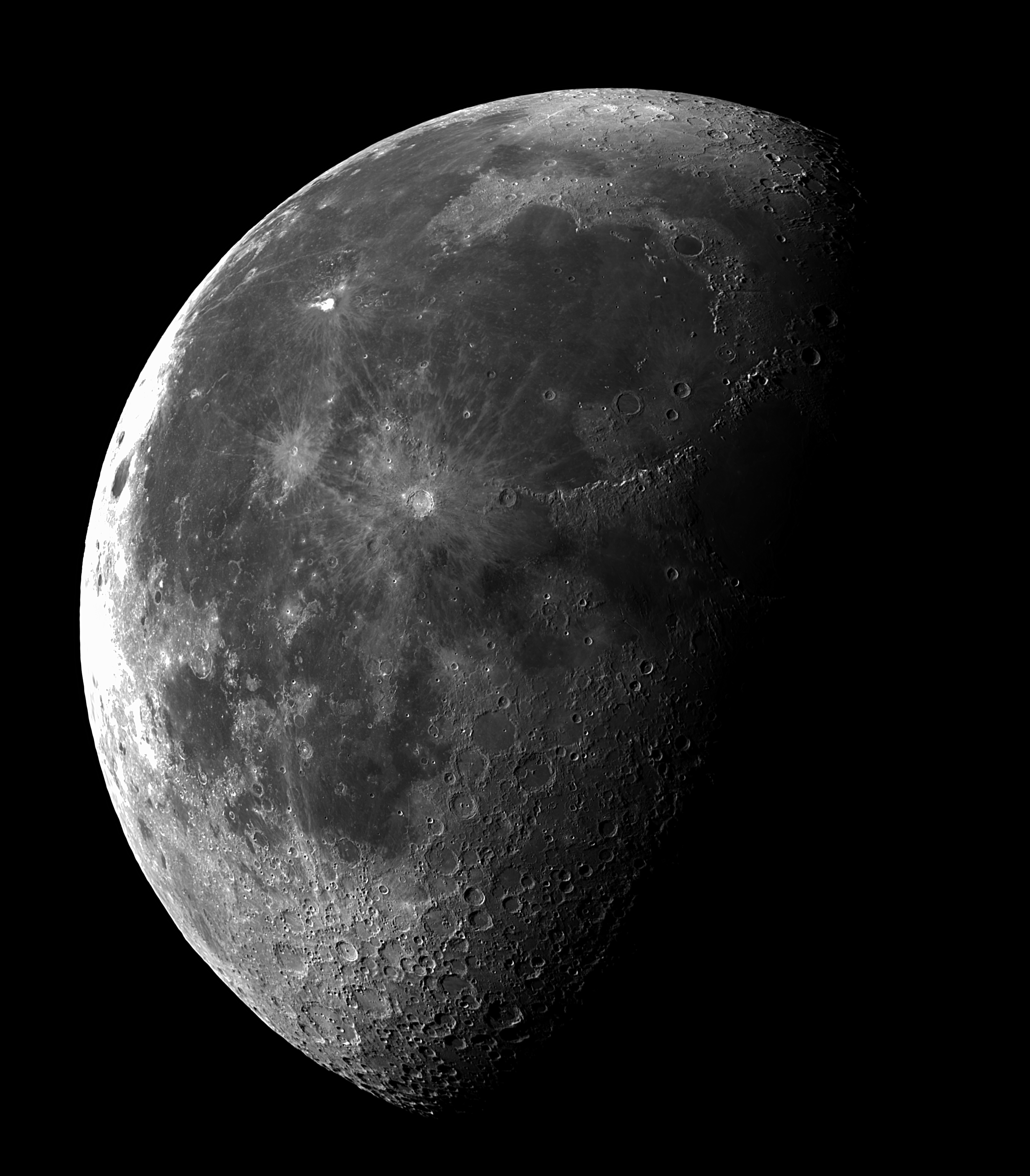 Image of waning moon