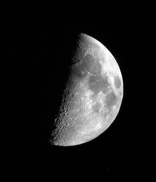 Image of waxing moon